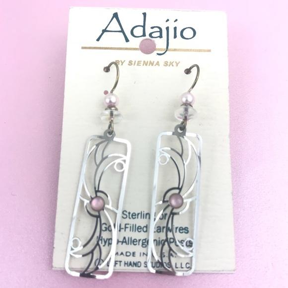 70993eac4 Adajio Jewelry | By Sienna Sky Earrings Pink Silver Usa | Poshmark